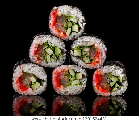 Pyramid of rolls spicy lollo-ross Stock photo © Cipariss