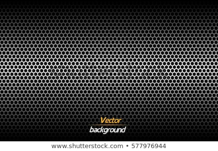 Structured dark metallic perforated background, technology vector illustration Stock photo © kurkalukas