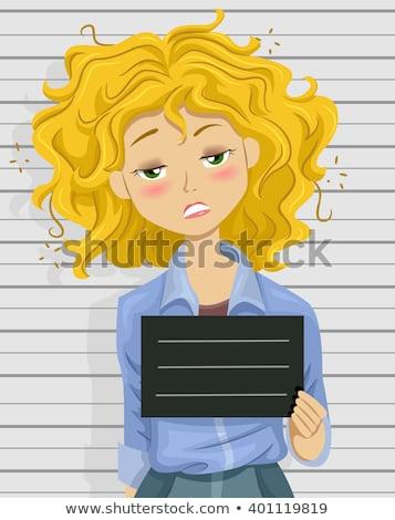 Desenho animado bêbado menina adolescente ilustração olhando Foto stock © cthoman