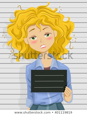 Cartoon dronken tienermeisje illustratie tienermeisje naar Stockfoto © cthoman