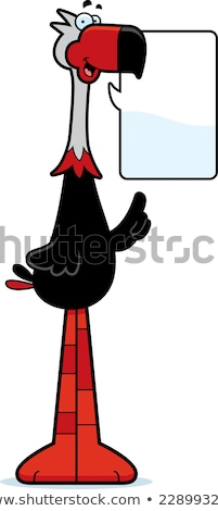 Talking Cartoon Terror Bird Stock photo © cthoman
