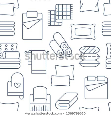 blue bedroom bed vector icon Stock photo © blaskorizov