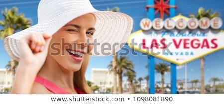 美しい 笑顔の女性 ラスベガス 夏 ファッション ストックフォト © dolgachov