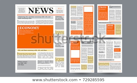 newspaper vector daily journal design financial news articles advertising business information i stock photo © pikepicture