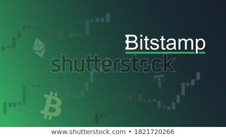 Exchange - Bitstamp. The Crypto Coins or Cryptocurrency Logo. Stock photo © tashatuvango