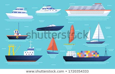 Steamboats Marine Transport Vessel Sailing in Sea Stock photo © robuart