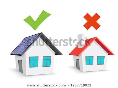 ecohouse and chimney house choice Stock photo © romvo