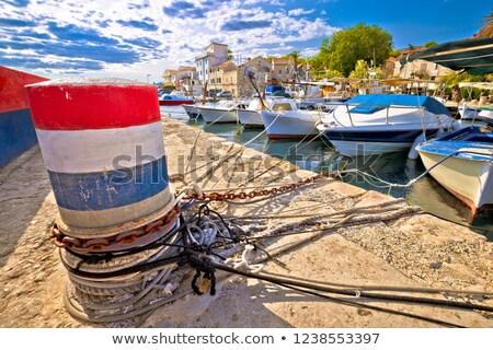 Edad barcos puerto región Croacia cielo Foto stock © xbrchx