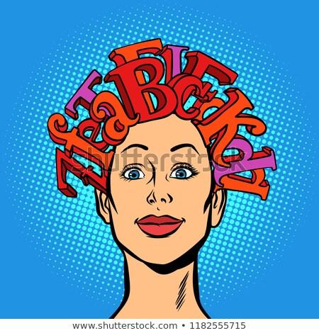 женщину алфавит письма волос голову знания Сток-фото © rogistok