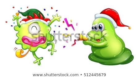 Christmas dwa strony ilustracja szczęśliwy Zdjęcia stock © colematt