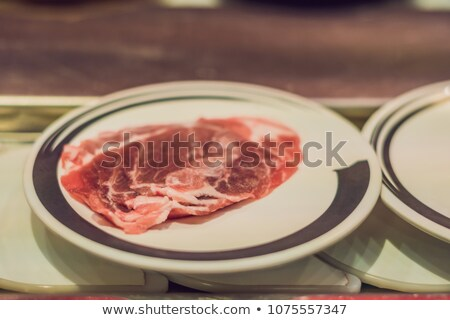 Stockfoto: Rauw · voedsel · platen · cafe · business · voedsel · tabel