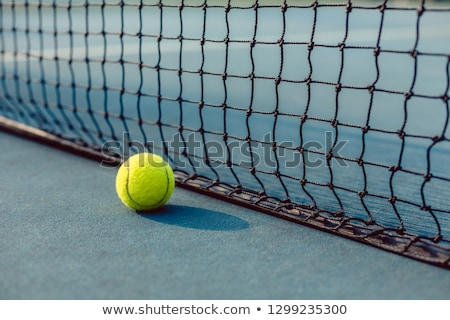 Fluorescent jaune balle net court de tennis Photo stock © Kzenon