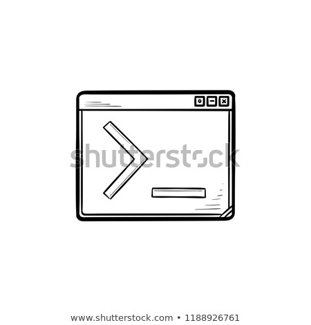 browser window with command line hand drawn outline doodle icon stock photo © rastudio