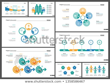 Statistic Web Pages, Charts and Infographics Set Stock photo © robuart