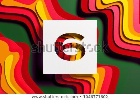 черно белые числа шесть 3D 3d визуализации Сток-фото © djmilic
