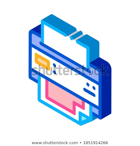 Polygraphy outline isometric icons Stock photo © netkov1