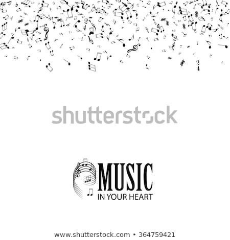 Stock fotó: Zuhan · jegyzetek · klasszikus · zenész · fiatal · gitáros
