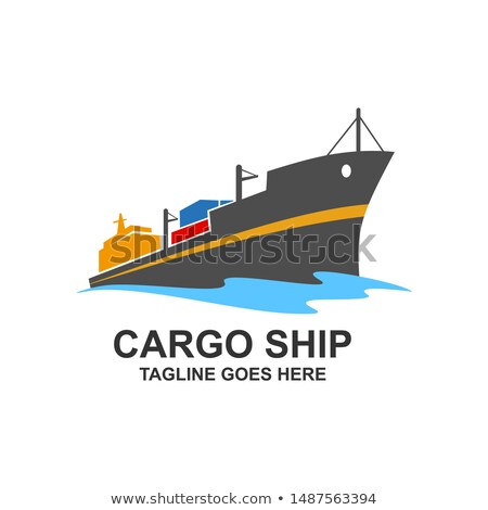 cargo ship marine commercial vessel vector icon stock photo © robuart