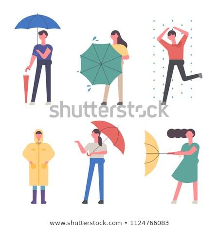 дождливый день красочный дизайна стиль иллюстрация Сток-фото © Decorwithme