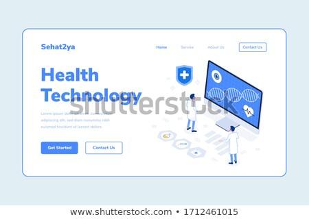 telefone · homem · estetoscópio · celular · pescoço - foto stock © genestro