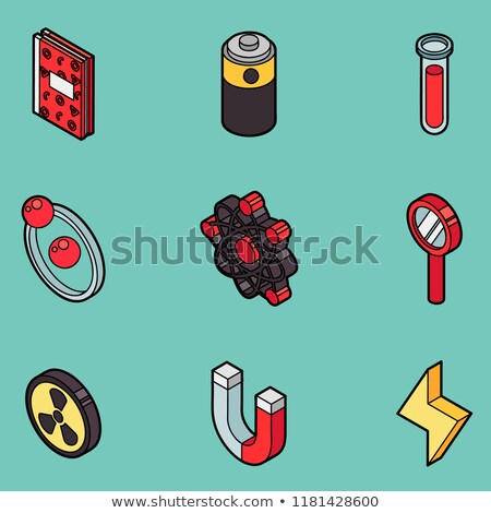 Physics color outline isomeric icons Stock photo © netkov1