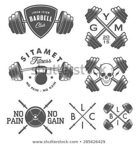 ボディービルダー · アイコン · ジム · シンボル · デザイン · 男 - ストックフォト © netkov1