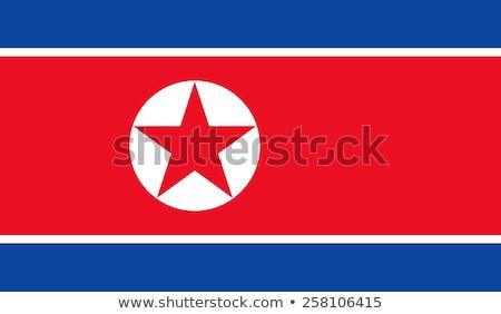 North Korea flag, vector illustration Stock photo © butenkow