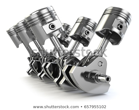 Engine piston on white background. Isolated 3d illustration Stock photo © ISerg