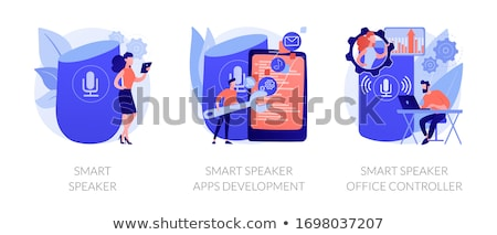 Smart speaker office controller vector creative concept illustration. Stock photo © RAStudio