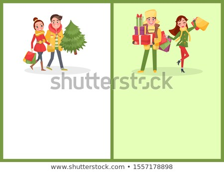 Christmas Holiday Approaching, People Shopping Stock photo © robuart