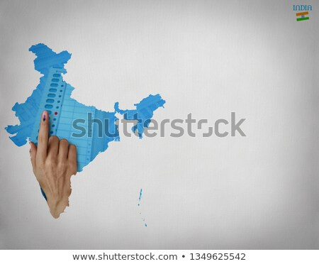 cédula · caixa · Índia · mapa · atravessar · e-mail - foto stock © sarts