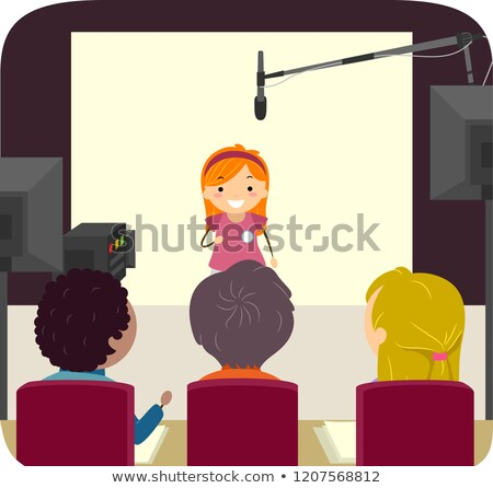 Stickman Kid Girl Audition Casting Illustration Stock photo © lenm