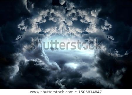 Gök gürültüsü bulutlar güneş ışık arka plan objektif Stok fotoğraf © romvo
