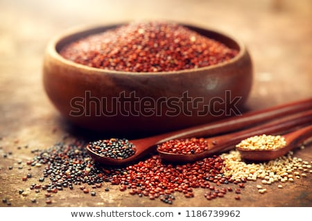 egészséges · fekete · magok · tál · márvány · asztal - stock fotó © furmanphoto