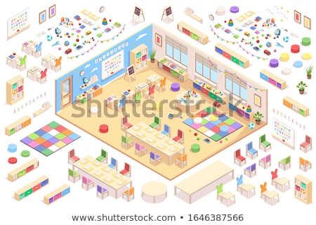Stock photo: Vector Kindergarten cross-section