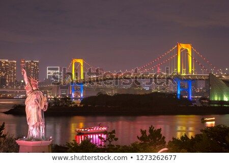 Statue of liberty and tokyo cityscape, Japan Stock photo © daboost