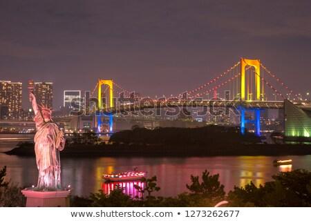 Estátua liberdade Tóquio cityscape Japão arco-íris Foto stock © daboost