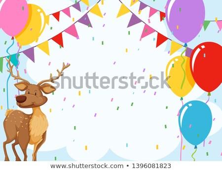 Elk in birthday invitaiton Stock photo © bluering