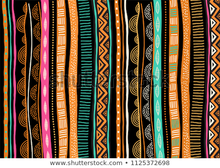 Africa continent tribal art map concept  Stock photo © cienpies