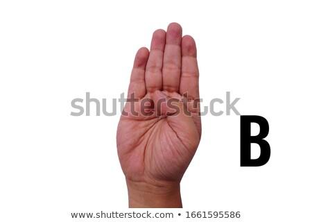 kéz · ábécé · feliratok · szépség · fiatal · süket - stock fotó © vladacanon