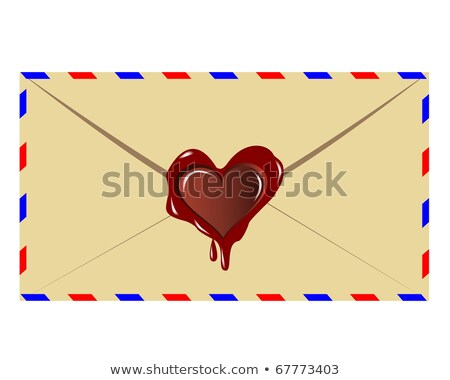 the letter with the sealing wax press in the form of heart stock photo © mayboro