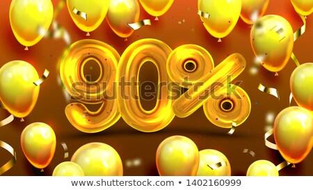 процент польза предлагать продажи вектора скидка Сток-фото © pikepicture