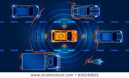 Autonomous driving concept vector illustration. stock photo © RAStudio