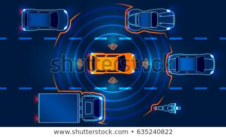 Jazdy biznesmen samochodu smart technologii ikona Zdjęcia stock © RAStudio
