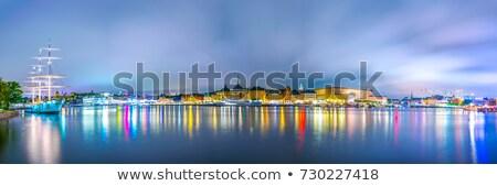Сток-фото: судно · Стокгольм · стали · западной · берега · центральный