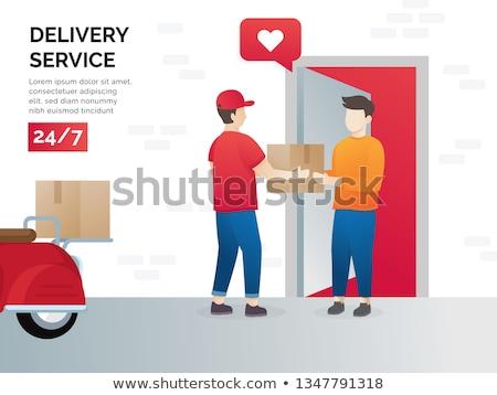 Livraison courrier boîte vecteur Photo stock © robuart