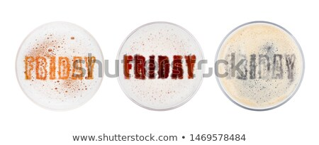Glasses of red ale stout and lager beer top friday Stock photo © DenisMArt