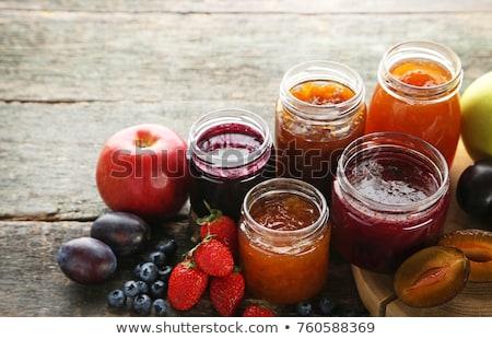 abrikoos · jam · glas · jar · eigengemaakt · zoete - stockfoto © furmanphoto