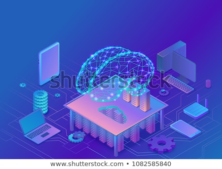 Mindfulness concept - modern isometric vector web banner Stock photo © Decorwithme