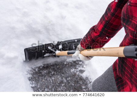 Teenage Girl Clearing Snow From Drive stock photo © monkey_business
